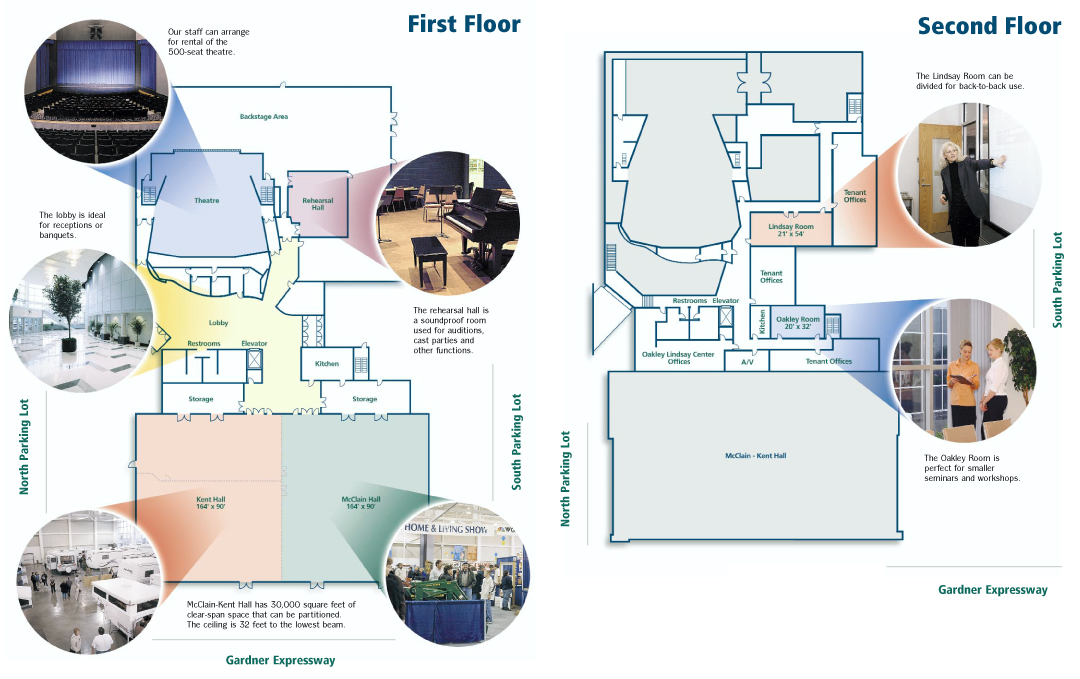 Facility Map - Oakley Lindsay Center - Quincy, IL Civic Center